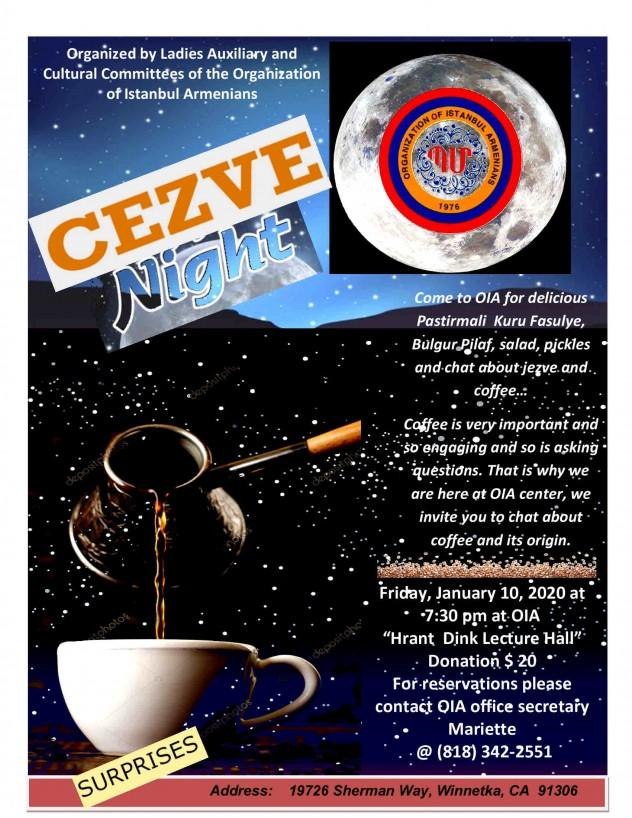 Flyer for Cezve Night