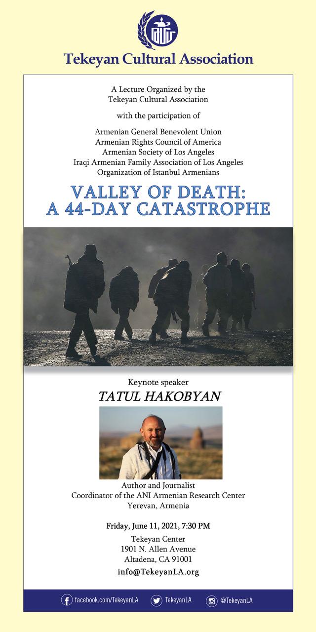 Friday June 11, 2021 Tatul Hakobyan Event - English Language Flyer